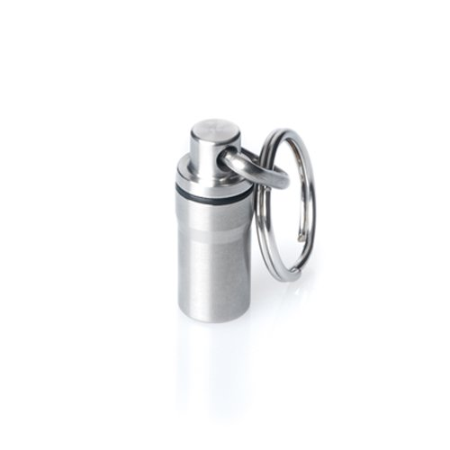 GUS Mini Pill Fob, Made in USA, Stainless Steel Keychain Pill Holder, Emergency Aspirin Holder, Compact Design by GUS