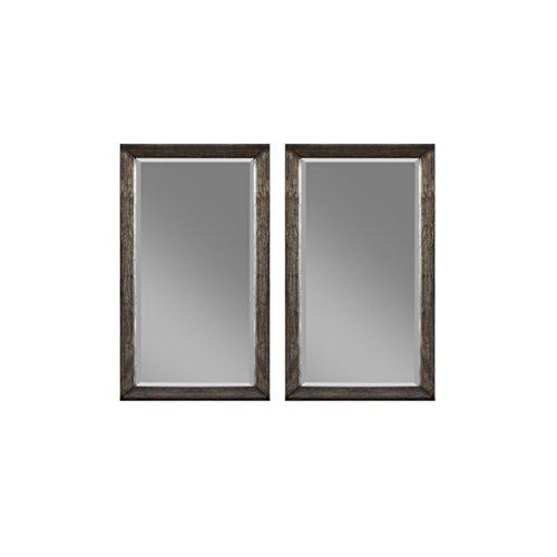 Cedar Oak Dresser - Emerald Home Furnishings B218-25 Millenium Twin Dresser Mirrors, Standard, Weathered Oak
