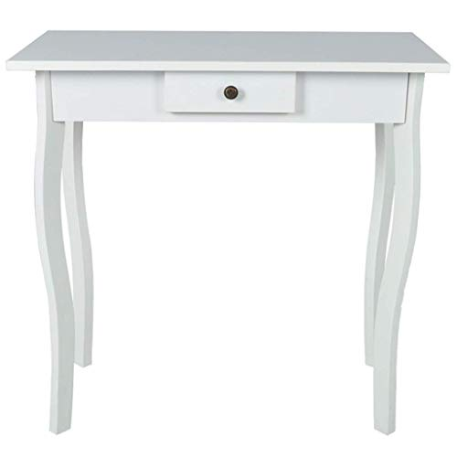 Cottage Style Hallway Side End Table Lamp Stand Tables - White by FurnitureDecor