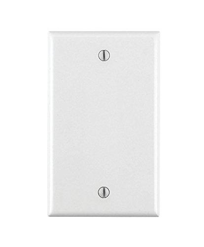 Leviton 001-88014-WHT Single Gang White Blank Box Mounted Plastic Wallplate