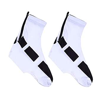 Flyme Cycling Shoe Cover Shoes Protector Boot Covers Winter Windproof Warm Protection (White)