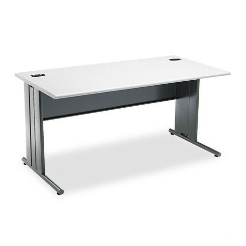 HON 66571G2S 60 by 29-1/2 by 29-1/2-Inch The Stationmaster Computer Desk, Gray Pattern (Gray Patterned Laminate Top)