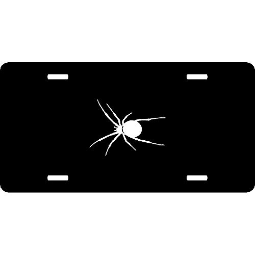 (URCustomPro Spider Scary Halloween Web Jump Bite Scare Infect Venom V2 Novelty Front License Plates Aluminum Metal Decorative Car Tag Sign with 4 Holes (12 X 6)