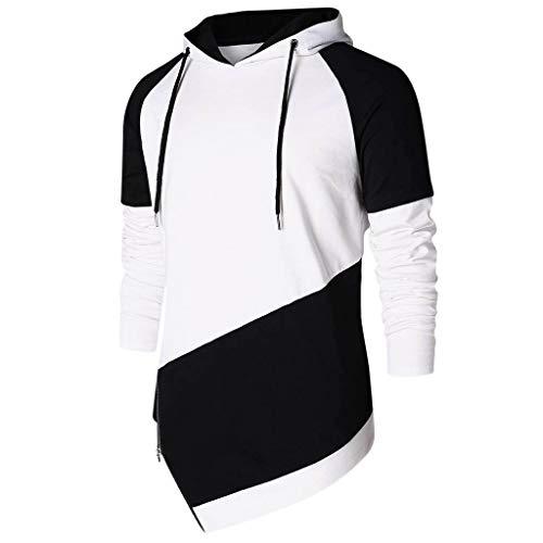 (Mitiy Mens Hipster Hip Hop Long Sleeve Zipper Fashion Hoodies Sweatshirt (XXL, Black))
