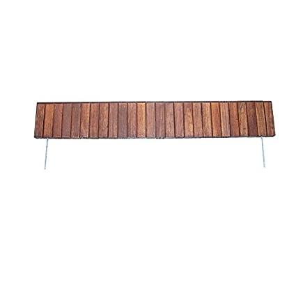 Amazon com : Redy-Edge 100132-6 Wood Lawn Edging, Brown