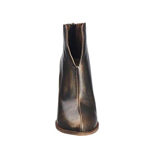 Antelope Da Donna 898 In Pelle Metallizzata Hi-cut Con Fibbia In Bronzo