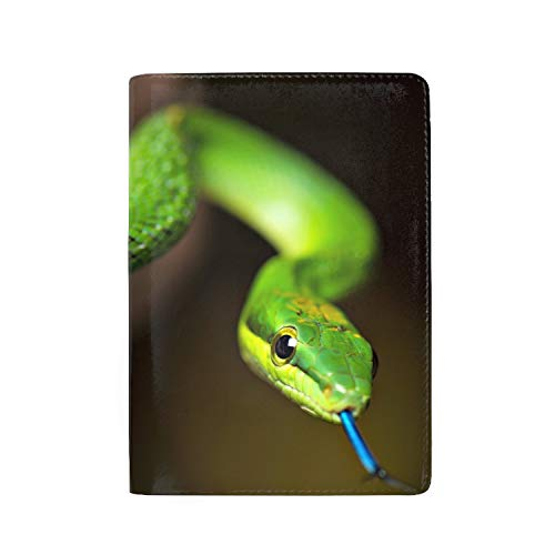 Passport Holder Travel Wallet RFID Blocking PU Leather Card Case Cover, Snake Tongue