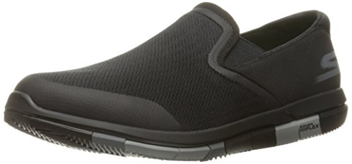 Skechers Performance Men's Go Flex Walking Shoe, Black/Gray, 10 M US