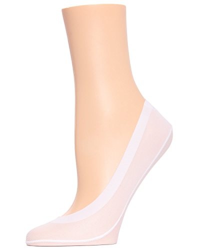 MeMoi Micro Liner | no show socks for women | foot liners | nylon socks White MP 002 One Size from MeMoi