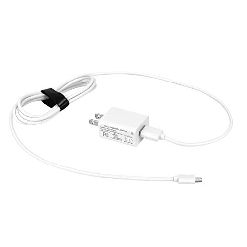 Fire HD 10 Tablet Charger Adapter with 5FT Extra Long Cord Charging Cable, Rapid Charger Compatible Amazon Kindle Fire HD 10 and Fire HD 10 Kids Edition,All New Fire Tablet.-White