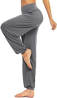 BeautyWill Harem Pants for Women, Cotton Loose High Waist Soft Athletic Elastic Waistband Yoga Pilates Pants