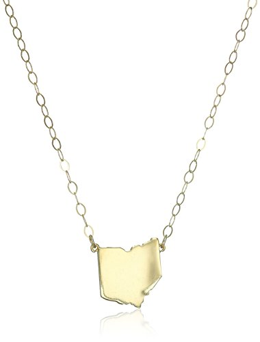 State Pendant Necklace, 16