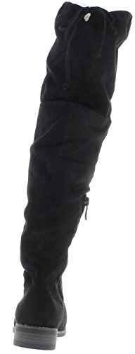 Woman Cm Tacco Chaussmoi Imbottito Waders Black In Da 3 Camoscio 5xTYTUqSnw
