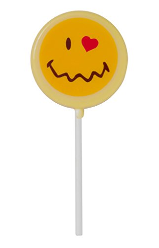 (Smiley World Emoji Face Expressions Dairy White Chocolate Lollipops Sucker