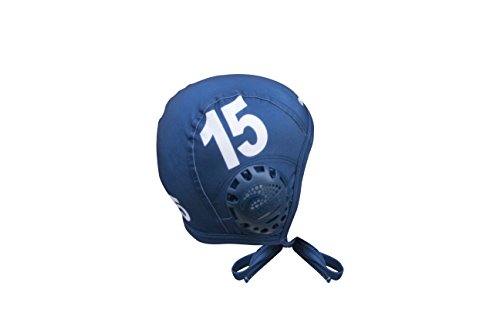 Water Polo Cap Set - TURBO Standard Water Polo Cap Set with 3 Numbers (Navy)
