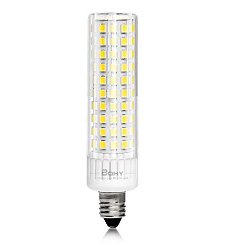 E11 LED Bulb Dimmable,1105lm, 9W (75W-100W Halogen Bulbs Equivalent), Mini Candelabra Base, AC110V120V 130V,3000K,Chandeliers Ceiling Fan Light, Pack of 1