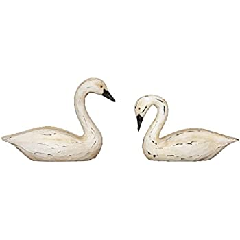 Your Hearts Delight Swan Decor 6 By 3 By 5 Inch White Pack Of 2
