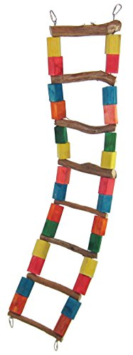 YML 41 by 9-Inch Parrot Dragonwood Ladder, Large by YML