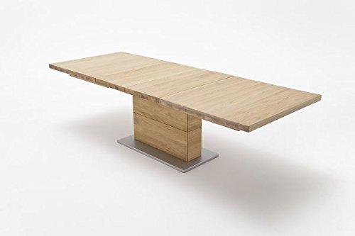 Tisch, Esszimmertisch, Wildeiche massiv, 180(270) cmx100cm