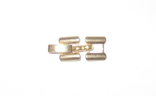 Perma Gold 3.1mm Fold Over Clasp (0.122 inch) by Lisa's Unique Gifts N More - Gold Fold Over Clasp