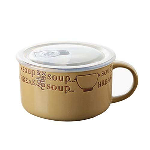 Cereal Bowls Coupe Cereal Bowls Instant Noodles Cup Lunch Box Fast Food Cup With Lid With Handle Household Large Capacity Soup Cup Insulation Bowl Gift Food Service Equipment & Supplie Kitchen