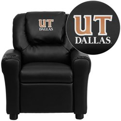 UPC 847254030397, Flash Furniture Texas at Dallas Comets Embroidered Black Vinyl Kids Recliner with Cup Holder and Headrest