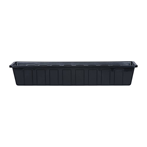 Novelty Poly-Pro Plastic Flower Box Planter, Black, ()