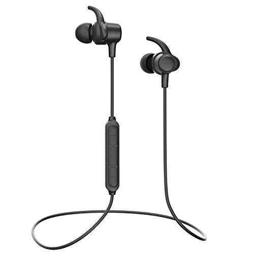 Wireless Headphones WRZ S8 Bluetooth 5.0 Earbuds Microphone IPX6 Sweatproof Sport Running Gym Travelling Workout 10 Hrs Playtime Earphones for Android iOS Cellphones (Black)