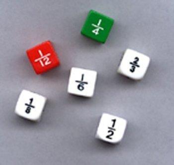 Koplow Games Fraction Dice Set Fractions & Decimals