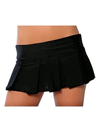 Amazon.com: Sexy Black School Girl Pleated Mini Skirt - SMALL ...
