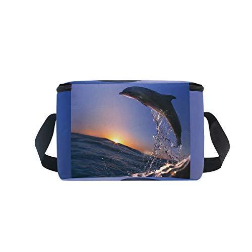 De Bolsa Picnic Ola Salto Enfriador Delfín Para Mar Almuerzo Correa De Fiambrera El De Hombro Del De qgTRdH