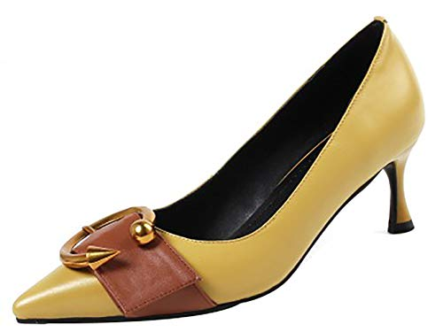 Punta Zapatos de Qaick Mujer Ponerse 6CM Arraysa tac Puntiaguda fZwR6q