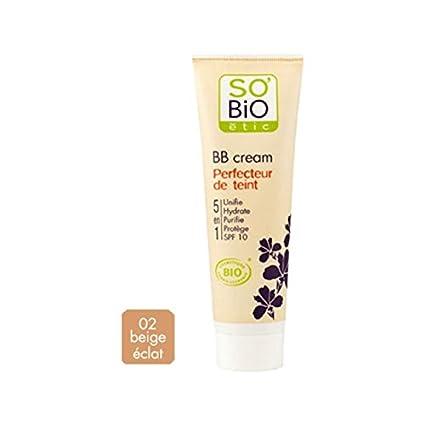 SoBio ETIC Fundación BB Cream 05 de enero 02 de Luster Beige Tubo 30