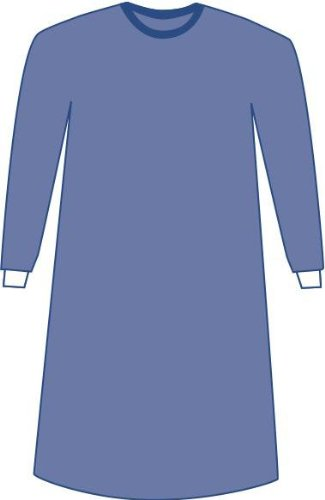 Medline DYNJP2307P Prevention Plus Impervious Surgical Gowns with Hand Towel, X-Large, Blue (Pack of 24)