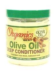 Africa's Best Organics Olive Oil Extra Virgin Conditioner Deep 15 oz. Jar (Pack of 8)