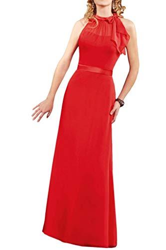 Marie Braut Abschlussballkleider Wassermelon Chiffon La Neuheit Brautjungfernkleider Lang Sommer Einfach Chiffon Damen Partykleider adwnqAU