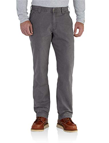 Carhartt Men's 102291 Rugged Flex Rigby Relaxed Fit Pant - 33W x 28L - Gravel