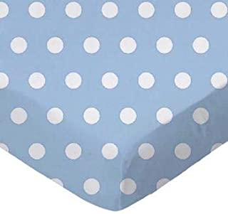 product image for SheetWorld Fitted Crib / Toddler Sheet - Polka Dots Blue - Made In USA