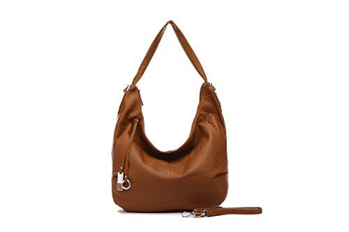 Mambo DE OTROS MUNDOS Women's Shoulder Bag Silver Metallic Silver Modelo 4 Light Brown