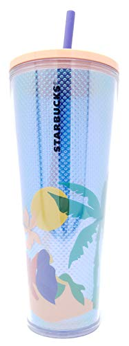 Summer 2020 Tropical Palm Tree Acrylic Cold Cup Tumbler 24oz