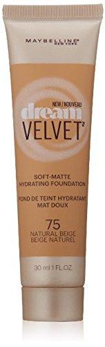 Myb Drm Velvet Fndtn 75 N Size 1.0 O Maybelline Dream Velvet Foundation 75 Natural Beige 1.0oz