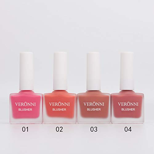 VERONNI Fruit Juice Liquid Blusher for Cheeks,Vegan Face Cream Blush Glow Makeup,Waterproof Long Lasting Blushes,Cruelty-Free for a Shimmery Finish (#402)