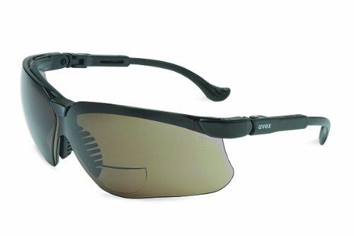 Uvex S3771 Genesis Reading Magnifiers Safety Eyewear +1-1/2, Black Frame, Standard Gray Ultra-Dura Hardcoat Lens