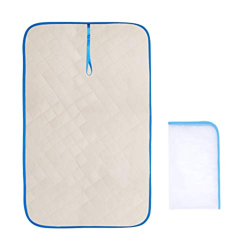 XGuan Magnetic Ironing Mat,Portable Travel Ironing Blanket Laundry Pad.Change any Flat Surface into an Ironing Board.22 x 35 in.Quilted, Washer Dryer Heat Resistant Pad, Iron Board Alternative Cover