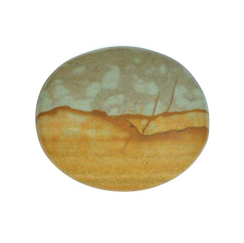 Used, DVH Oregon Owyhee Picture Jasper Matte Cabochon 25x30x5mm for sale  Delivered anywhere in USA
