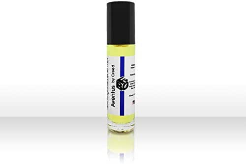 FragranceBodyOilz Impression of AVENTUS by Creed (1/3OZ Roll On) for Men Premium Hypoallergenic Cologne Body Oil, Affordable Generic Version (1/3 OZ)
