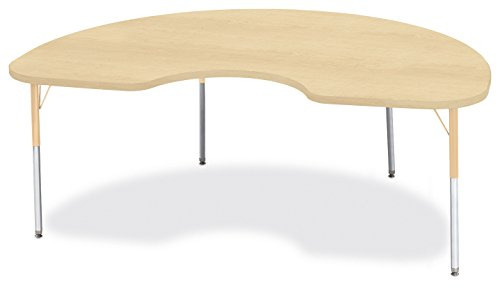 Berries 6423JCA251 Kidney Activity Table, A-Height, 48'' x 72'', Maple/Maple/Camel by Berries