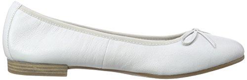 Tamaris 22116 - Bailarinas Mujer Blanco - blanco (White 100)