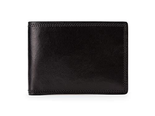 Bosca Men's Small Bifold Leather Wallet In Black