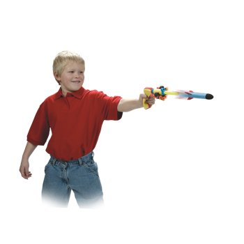 Geospace Squeeze Shotz Air-Powered Toy with Mini Foam Rockets & - Foam Rocket Air Powered